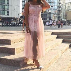 Sheer Mesh Dress